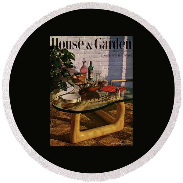 House And Garden Cover Featuring Brunch Round Beach Towel