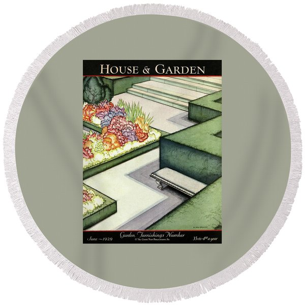 House And Garden Garden Furnishings Number Cover Round Beach Towel