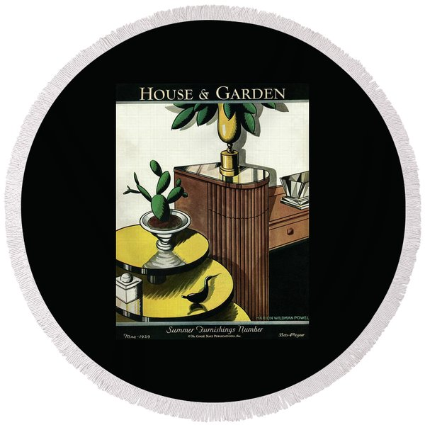 House And Garden Household Equipment Number Cover Round Beach Towel