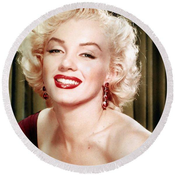 Iconic Marilyn Monroe Round Beach Towel