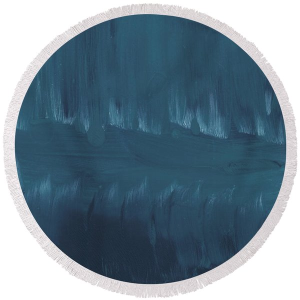In Stillness Round Beach Towel