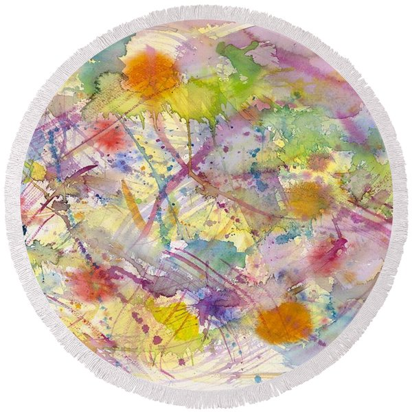Joyful Harmony Round Beach Towel