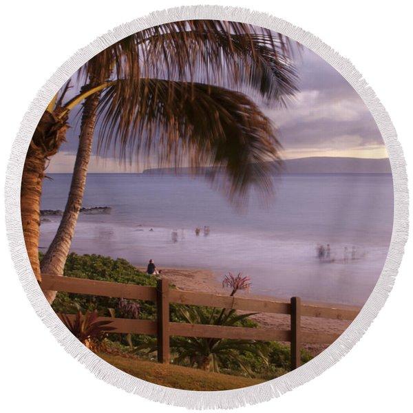 Kai Makani Hoohinuhinu O Kamaole - Kihei Maui Hawaii Round Beach Towel