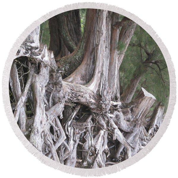 Kauai - Roots Round Beach Towel