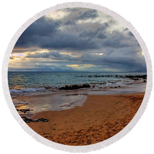 Keawakapu Beach Round Beach Towel