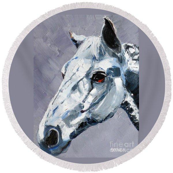 Legend - Sport Horse Round Beach Towel