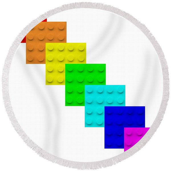 Lego Box White Round Beach Towel