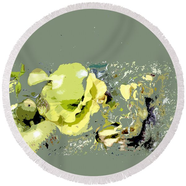 Lily Pads - Deconstructed Round Beach Towel