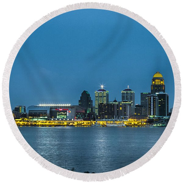 Louisville Ky 2012 Round Beach Towel