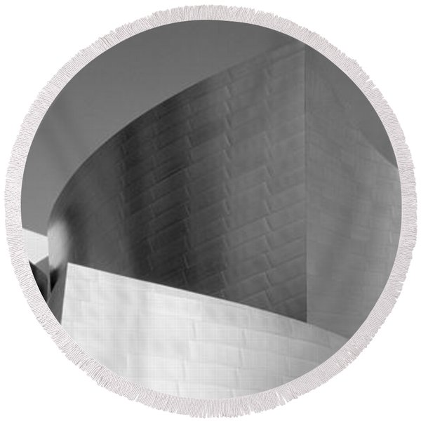Low Angle View Of A Building, Walt Round Beach Towel