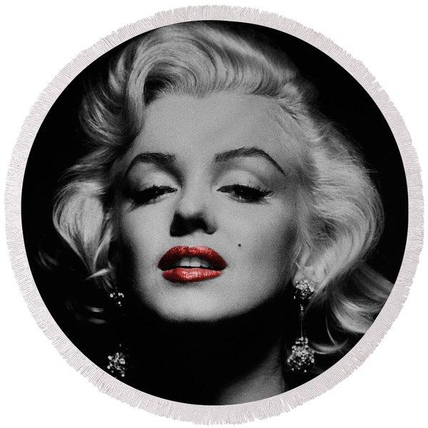 Marilyn Monroe 3 Round Beach Towel