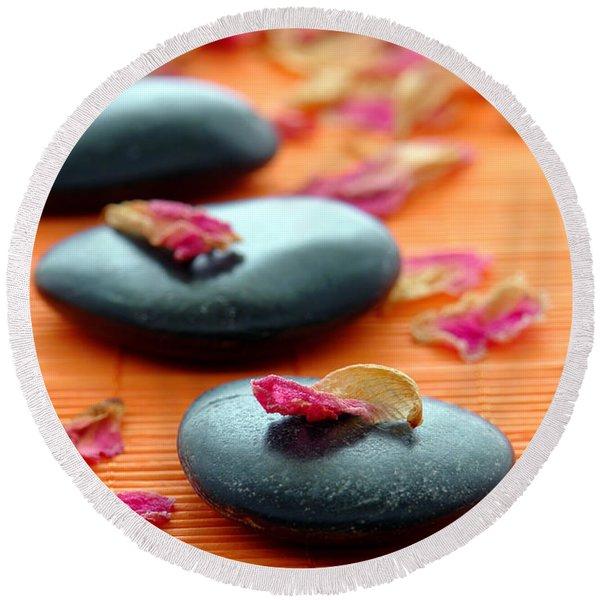 Meditation Zen Path Round Beach Towel