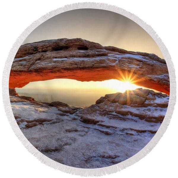 Mesa Sunburst Round Beach Towel