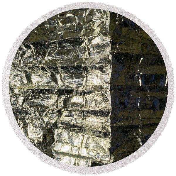 Metallic Reflection Round Beach Towel