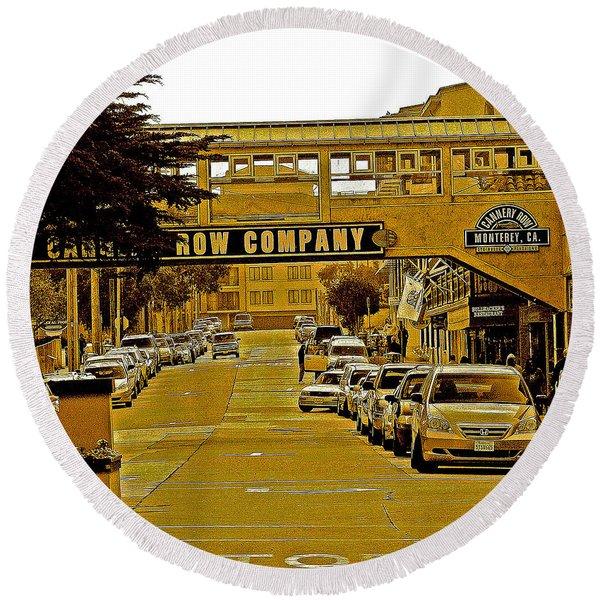 Monterey Cannery Row Company Round Beach Towel