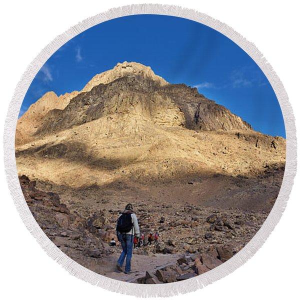 Mount Sinai Round Beach Towel