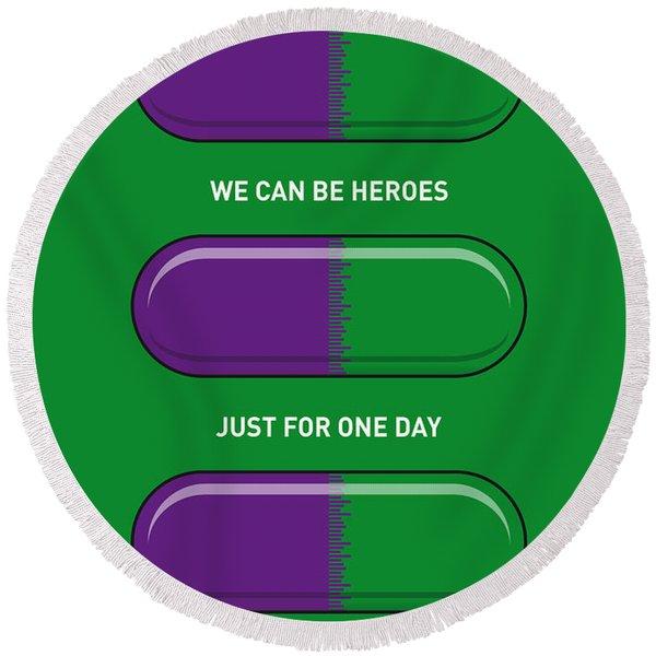 My Superhero Pills - The Hulk Round Beach Towel