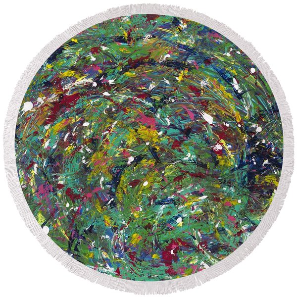 Nature's Vortex Round Beach Towel