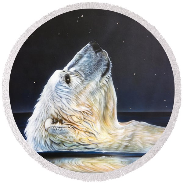 North Star Round Beach Towel