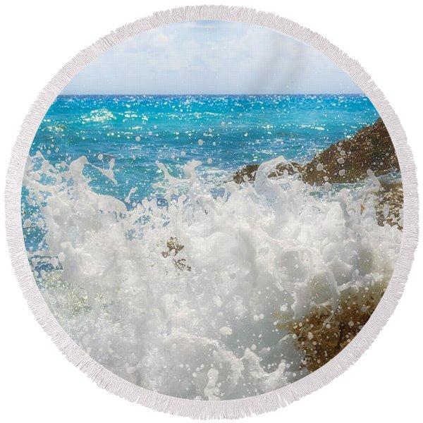 Ocean Spray Round Beach Towel