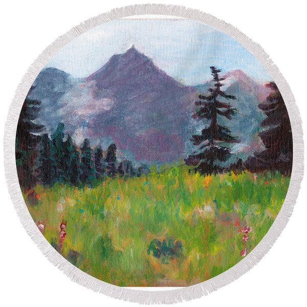 Off The Trail 2 Round Beach Towel