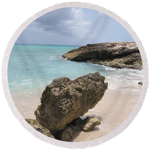 Plum Bay - St. Martin Round Beach Towel