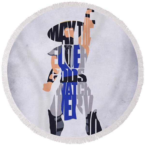 Raiden - Mortal Kombat Round Beach Towel