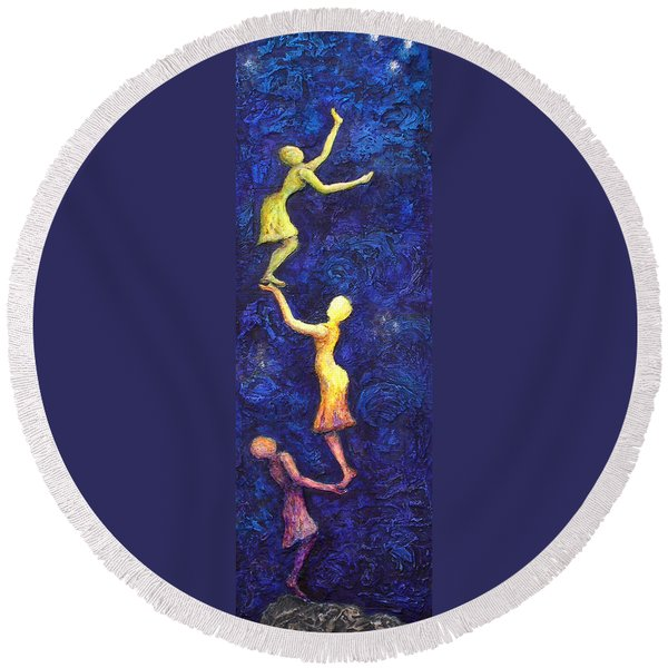 Reach For The Stars Round Beach Towel