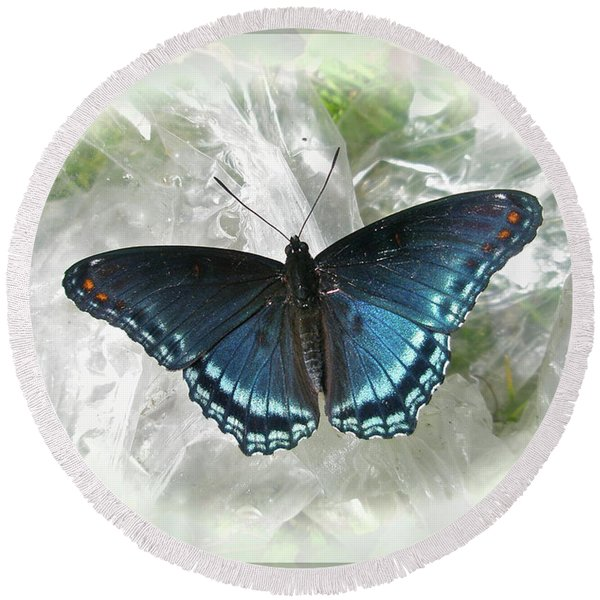 Red-spotted Purple Butterfly - Limenitis Arthemis Round Beach Towel