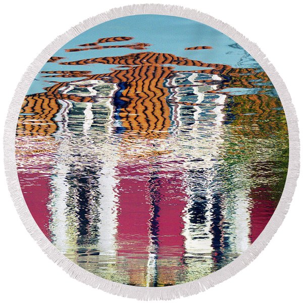 River House Round Beach Towel