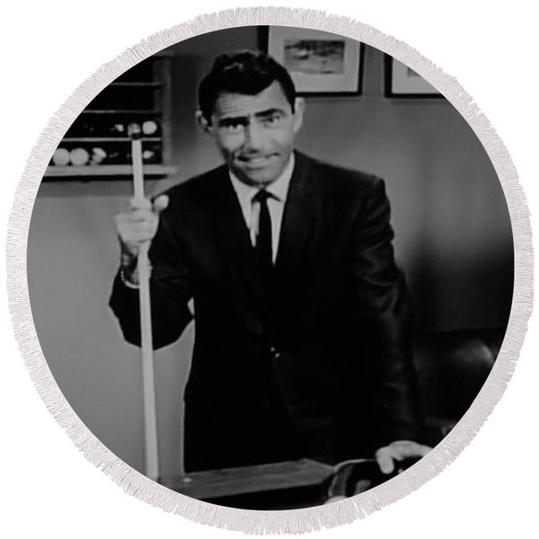Rod Serling Round Beach Towel