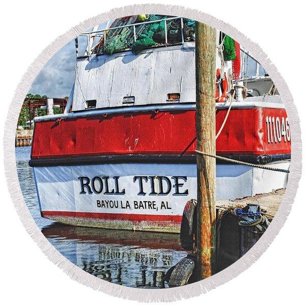Roll Tide Stern Round Beach Towel