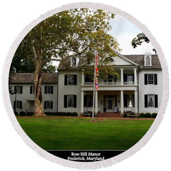 Rose Hill Manor Round Beach Towel