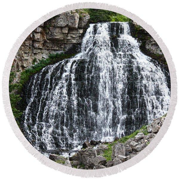 Rustic Falls Round Beach Towel