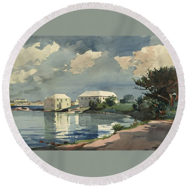 Salt Kettle Bermuda Round Beach Towel