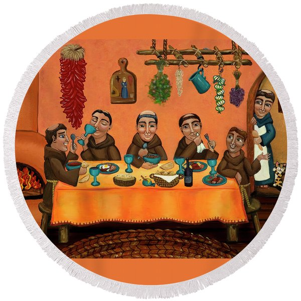 San Pascuals Table Round Beach Towel