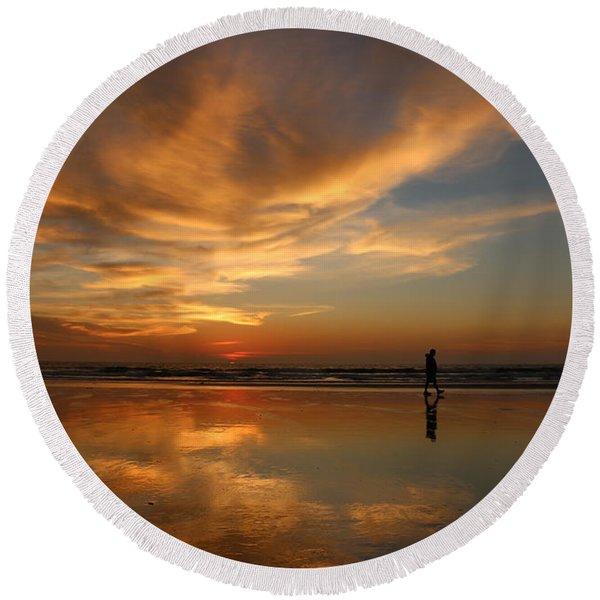 Seaside Reflections Round Beach Towel