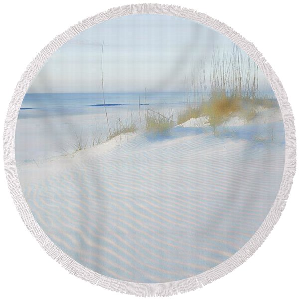 Soft Sandy Beach Round Beach Towel
