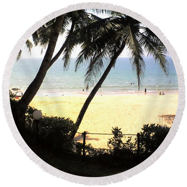 South Beach - Miami Round Beach Towel