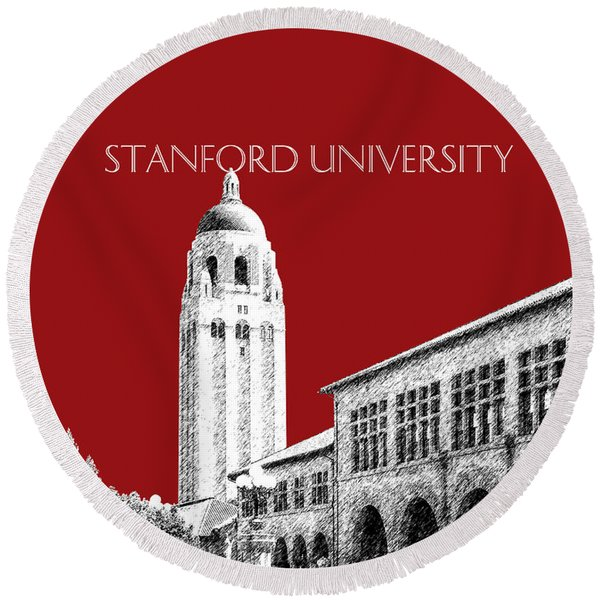 Stanford University - Dark Red Round Beach Towel