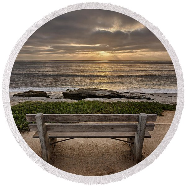 The Bench IIi Round Beach Towel