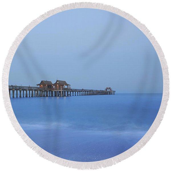 The Blue Hour Round Beach Towel