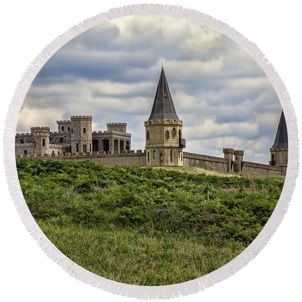 The Castle - Versailles Ky Round Beach Towel