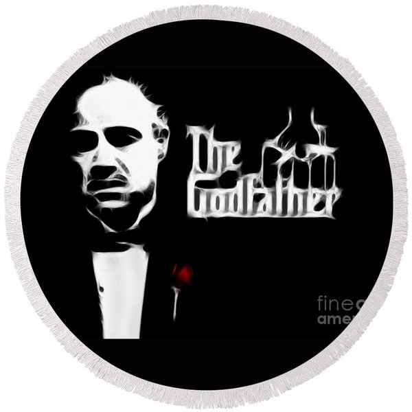 The Godfather Round Beach Towel