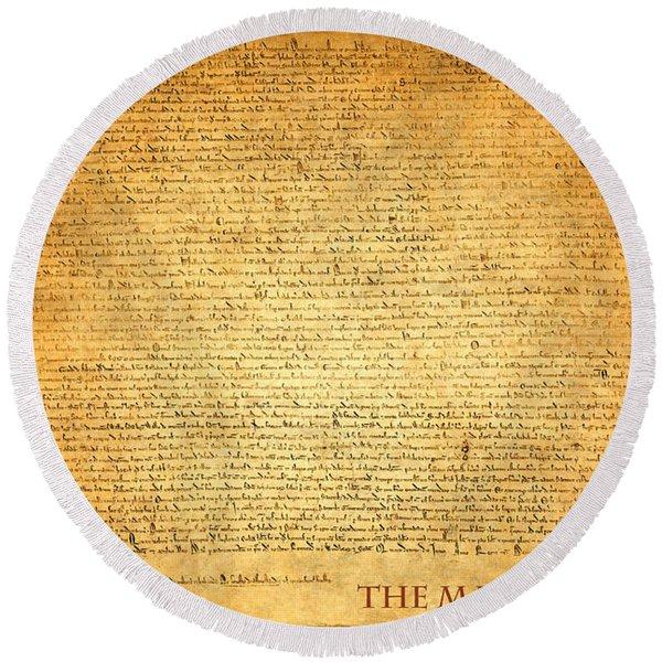 The Magna Carta 1215 Round Beach Towel