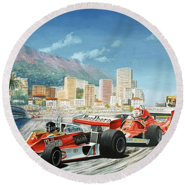 The Monaco Grand Prix Round Beach Towel