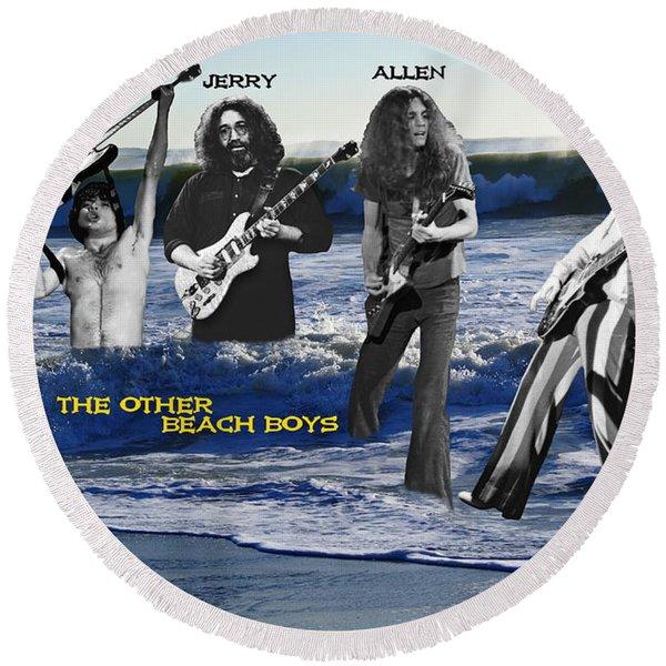 The Other Beach Boys Round Beach Towel