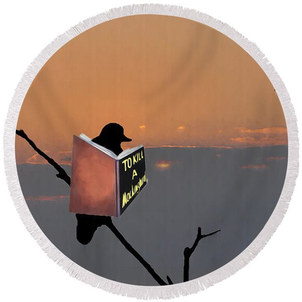 Round Beach Towel featuring the photograph To Kill A Mockingbird by Bill Cannon
