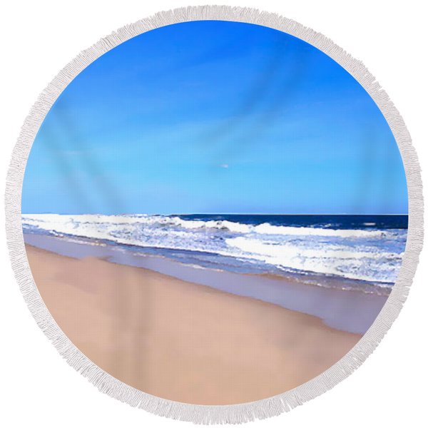 Tranquility II By David Pucciarelli  Round Beach Towel