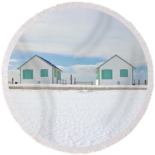 Truro Cottages Round Beach Towel